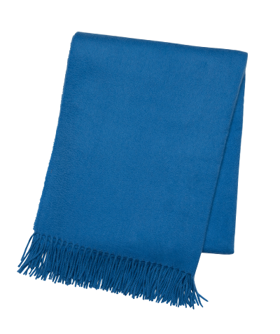 Cobalt Blue Cashmere Throw