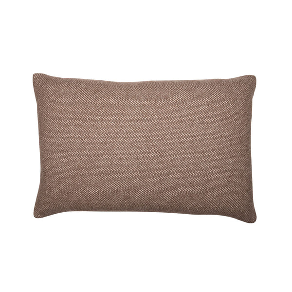 Brown Check Cashmere Pillow, Rectangle