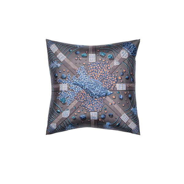 """Chemins de Corail"" Hermès Silk Scarf Pillow - Tribute Goods"