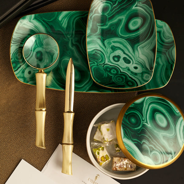 Small Malachite Rectangular Tray