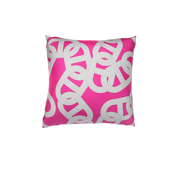 """Circuit 24 Faubourg"" Hermès Silk Scarf Pillow - Tribute Goods"