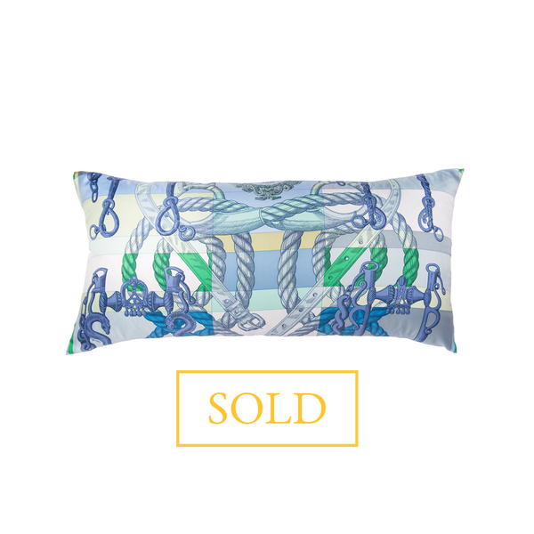 """Della Cavalleria"" Hermès Silk Scarf Pillow - Tribute Goods"