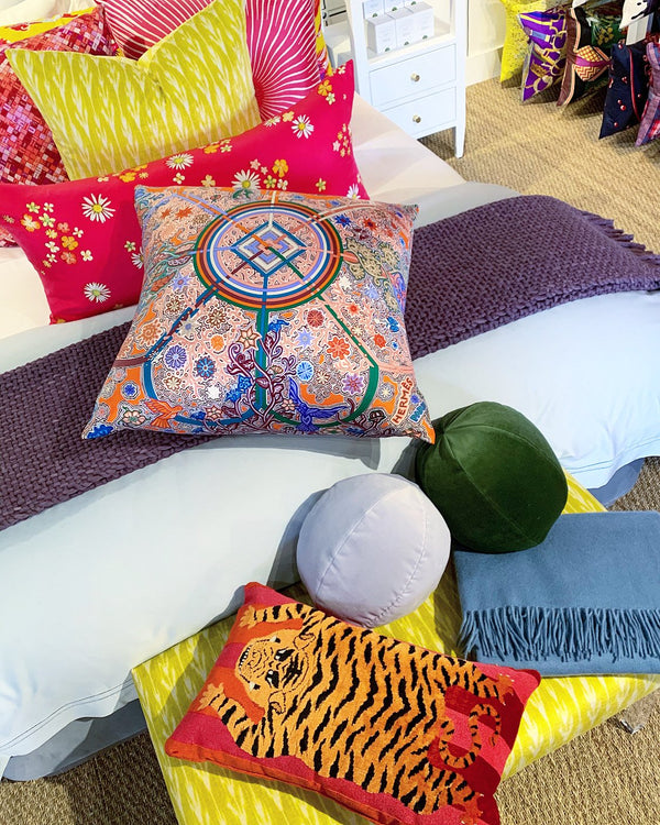 """Gaspard"" Velvet Sphere Pillow"