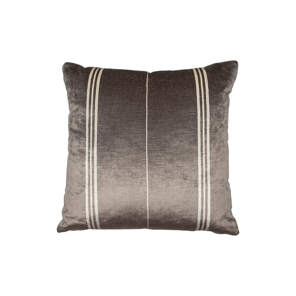 "Silver & White ""Elgin"" Stripe Pillow"