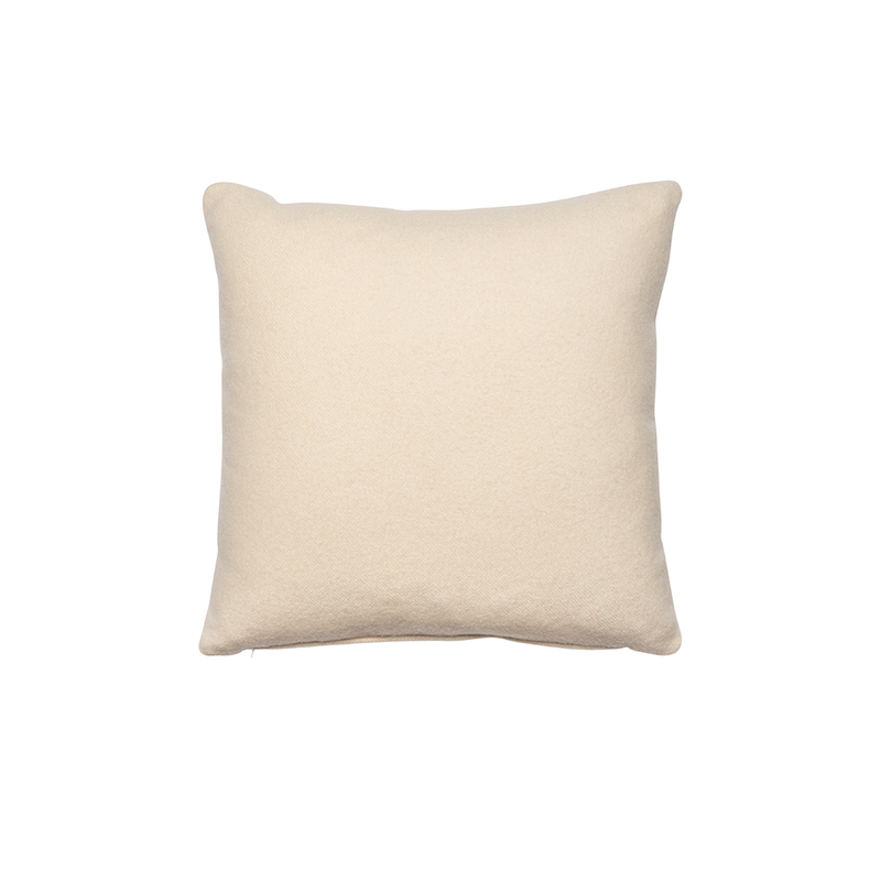 Ivory Cashmere Pillow, Square