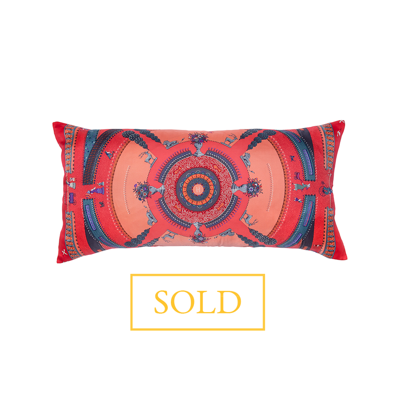 """Jardin Enchante"" Hermès Silk Scarf Pillow"