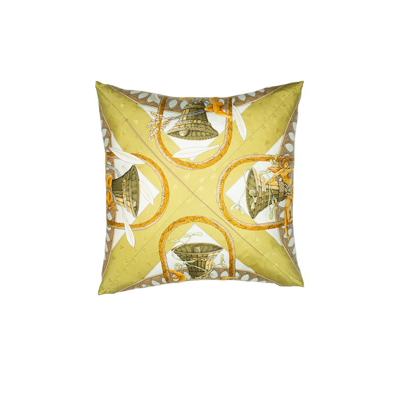 """Je T'aime Un Peu Beaucoup"" Hermès Silk Scarf Pillow - Tribute Goods"