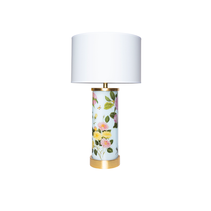 Floral I Églomisé Lamp - Tribute Goods
