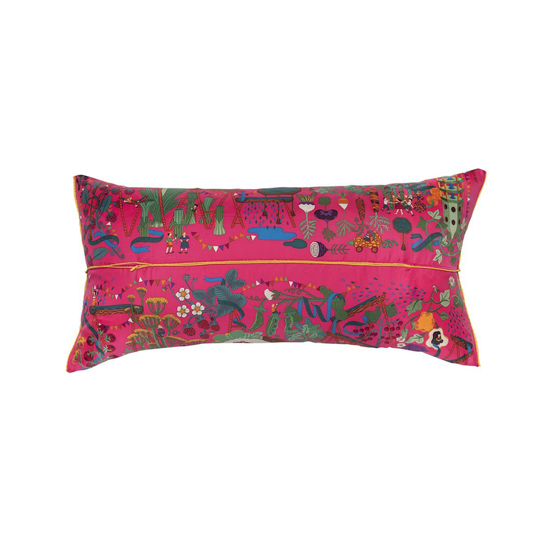 """Le Potager"" Hermès Silk Scarf Pillow - Tribute Goods"