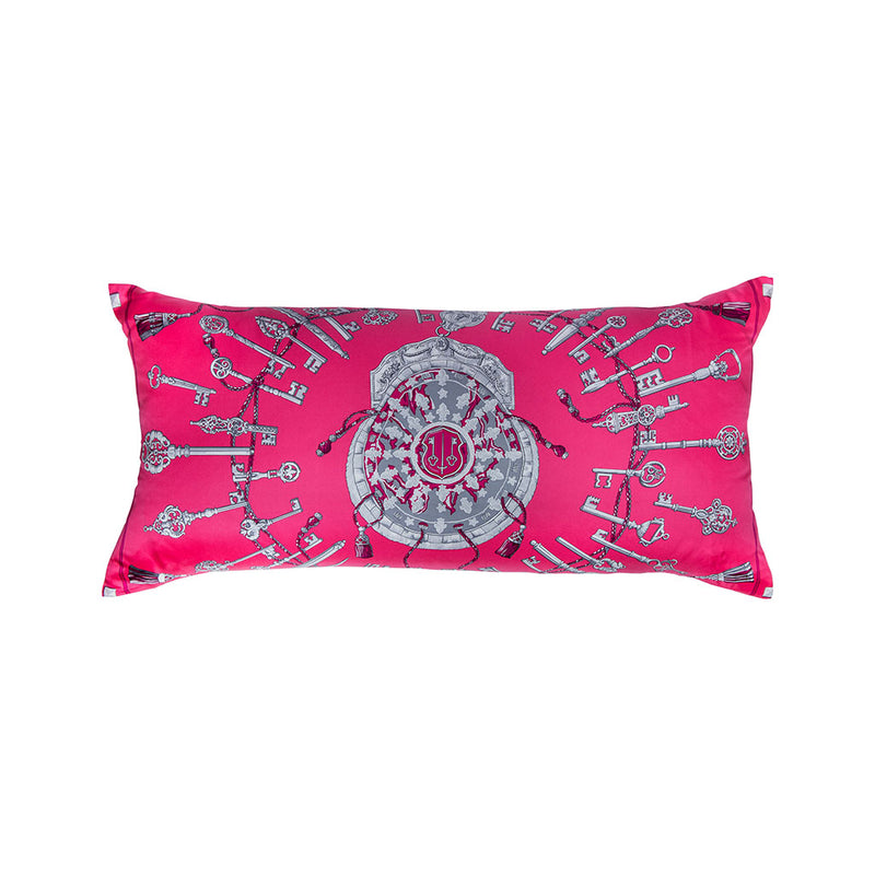 """Les Cles"" Hermès Silk Scarf Pillow - Tribute Goods"