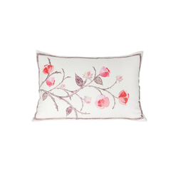 Linen Flower on Vine Pillow - Tribute Goods