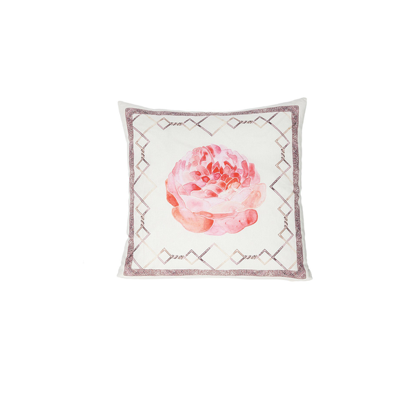 Linen Flower with Frame Pillow