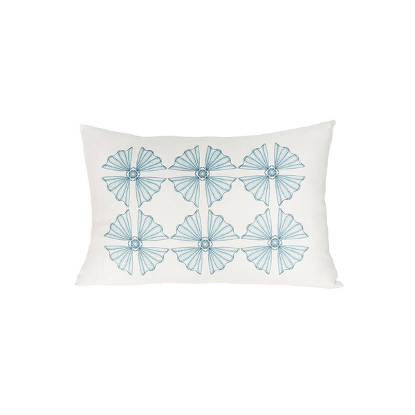 Linen Medallion Accent Pillow
