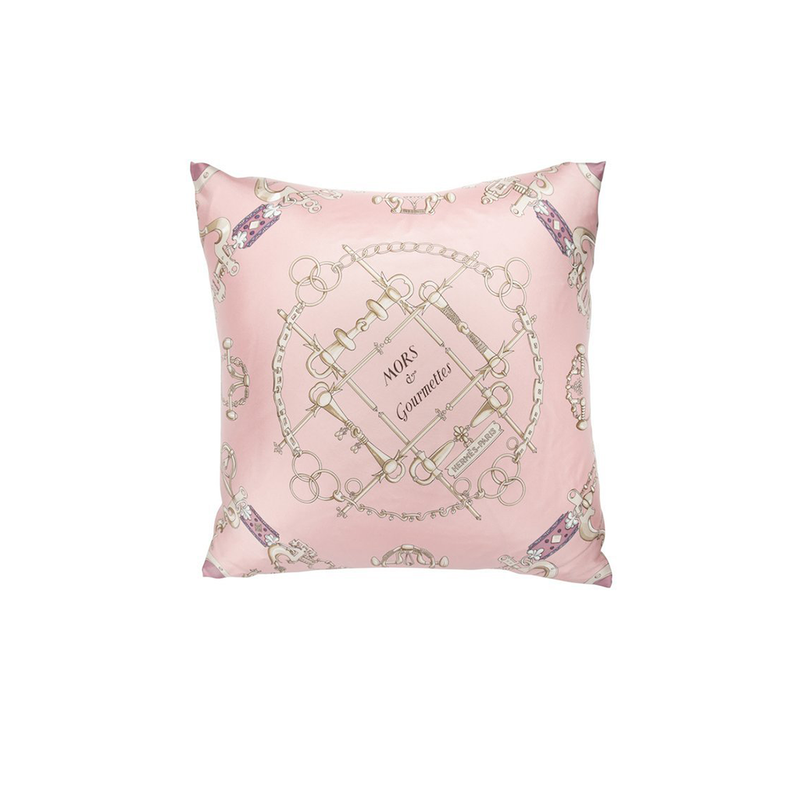 """Mors Et Gourmettes"" Hermès Silk Scarf Pillow - Tribute Goods"