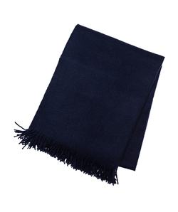 Navy Cashmere Throw