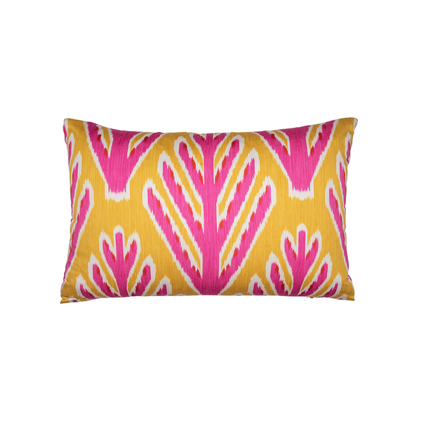 "Yellow & Pink ""Bodhi Tree"" Lumbar Pillow"