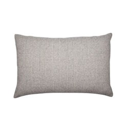 BROWN CHECK CASHMERE PILLOW, RECTANGLE - Tribute Goods
