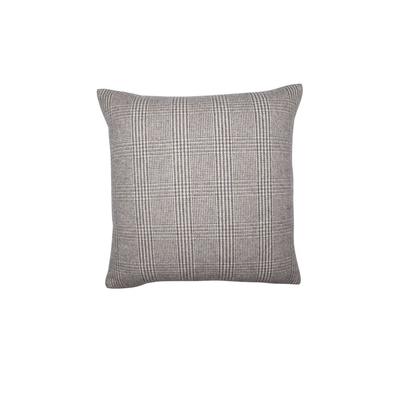BROWN CHECK CASHMERE PILLOW, SQUARE - Tribute Goods