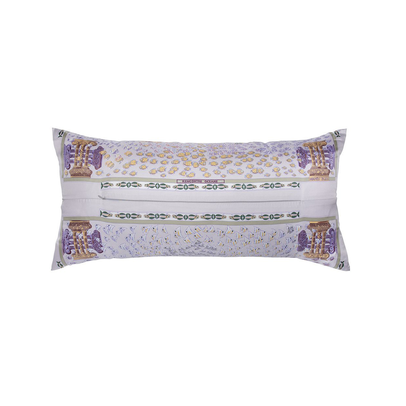 """Rencontre Oceane"" Hermès Silk Scarf Pillow - Tribute Goods"