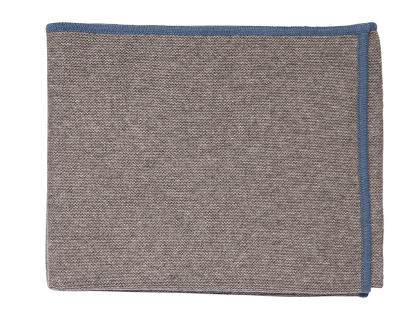 Blue Bordered Throw