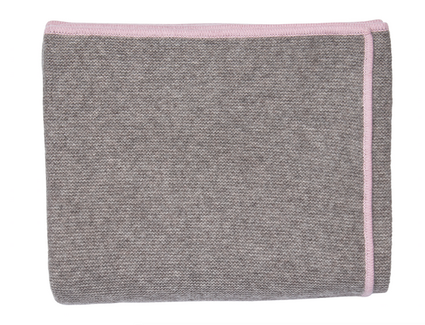 Pink Bordered Throw - Tribute Goods