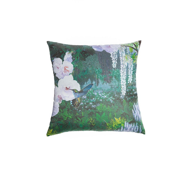 Silk Hummingbird Pillow