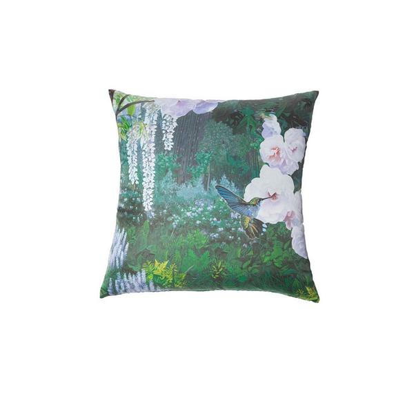 Silk Hummingbird Pillow - Tribute Goods
