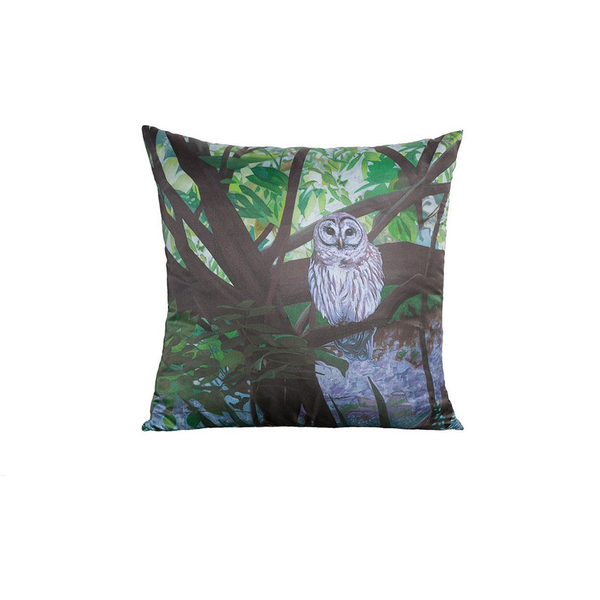 Silk Owl Pillow