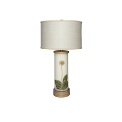 Single Daisy Églomisé Lamp