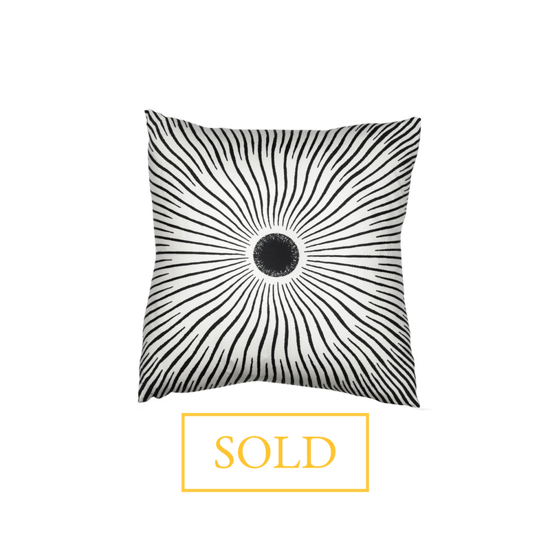 """Soleil"" Hermès Silk Scarf Pillow - Tribute Goods"