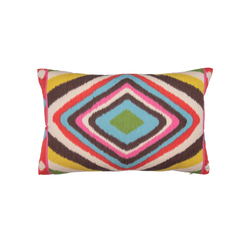 "Multicolor ""Terence Ikat"" Pillow"
