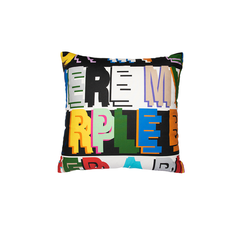 "Multicolor ""Robert Burns"" Square Pillow"