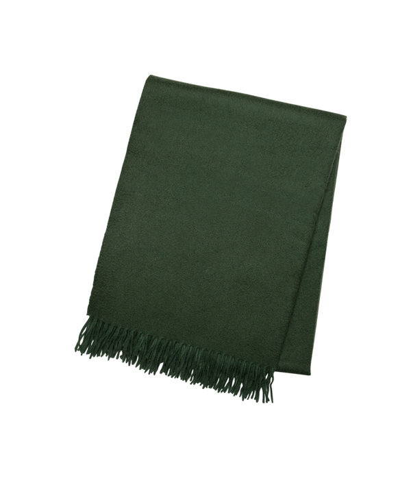 Dark Green Cashmere Throw