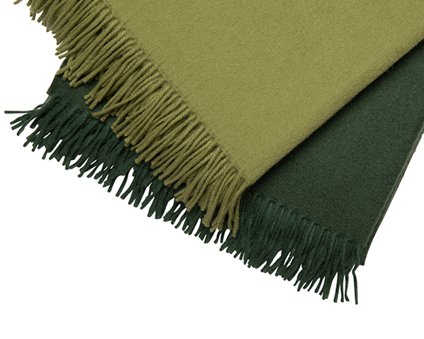 Light Green Cashmere Throw