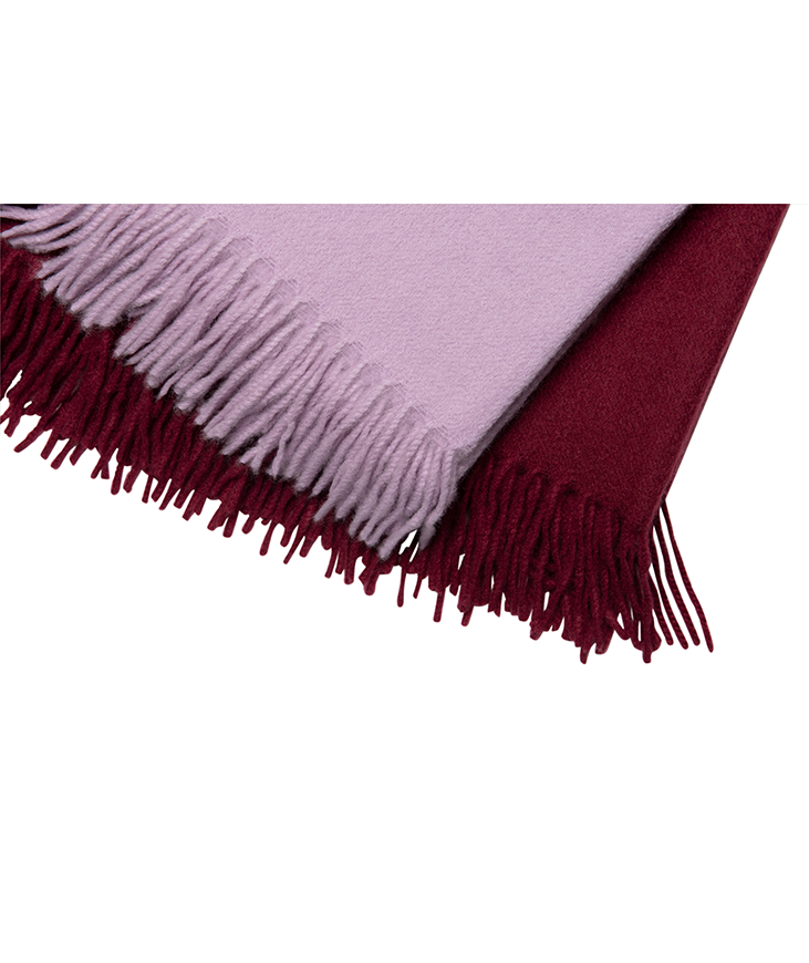 Red Cashmere Throw