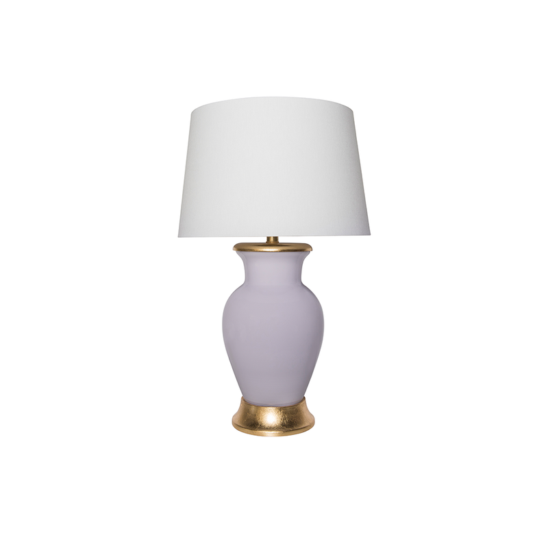 Lilac Églomisé Lamp - Tribute Goods