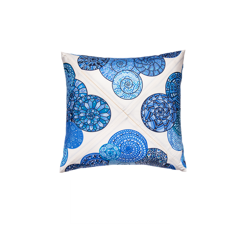 """Reves D'Escargots"" Hermès Silk Scarf Pillow"
