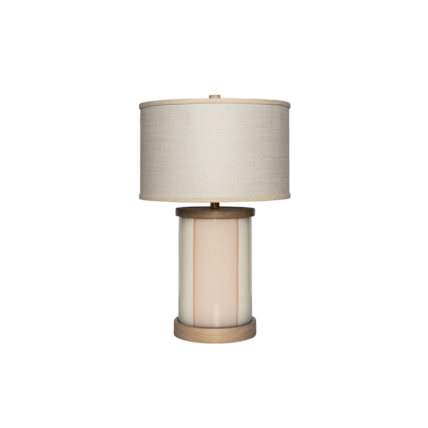 Blush Stripe Lamp