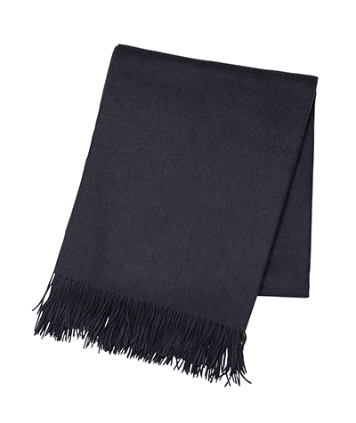 Charcoal Cashmere Throw - Tribute Goods