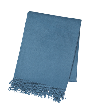 Cornflower Blue Cashmere Throw
