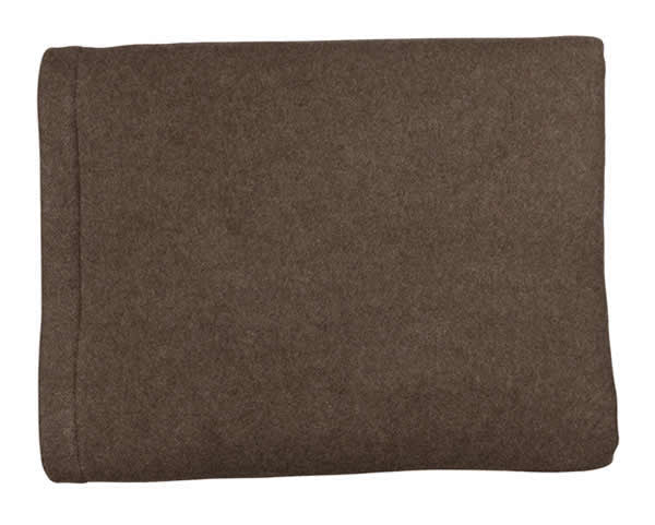 Two-Tone Brown & Oatmeal Heavyweight Cashmere Blanket