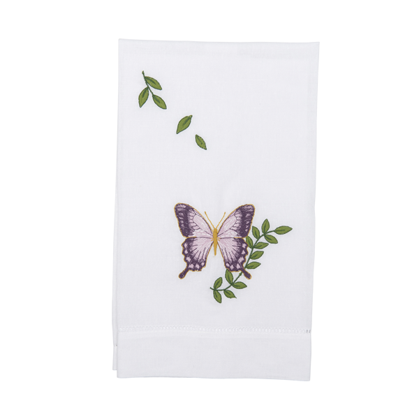 Butterfly Linen Hand Towel - Tribute Goods