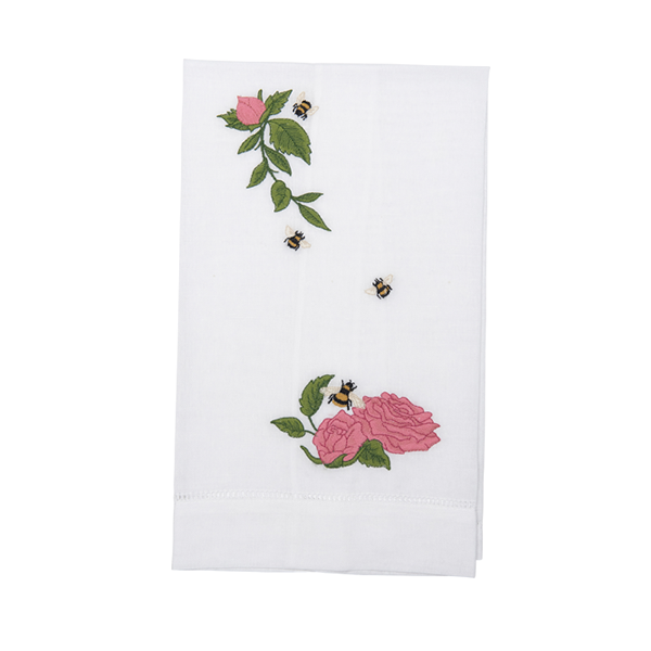 Floral Linen Hand Towel - Tribute Goods