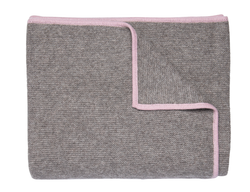 Pink Bordered Throw