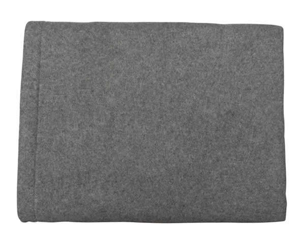 Two-Tone Charcoal & Grey Heavyweight Cashmere Blanket