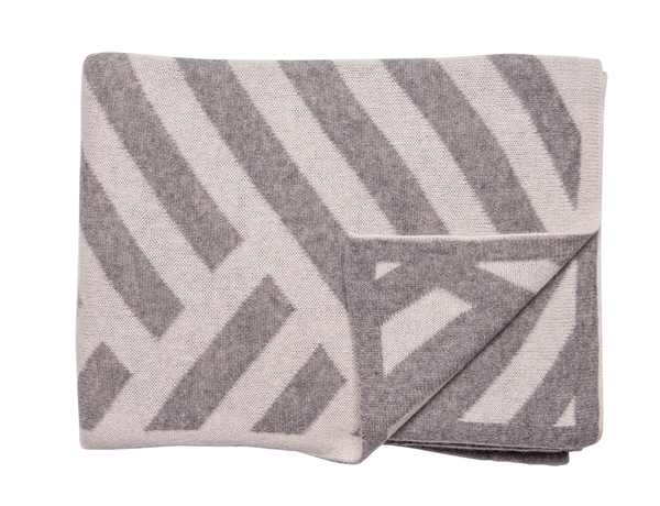 Grey & Ivory Chevron Blanket