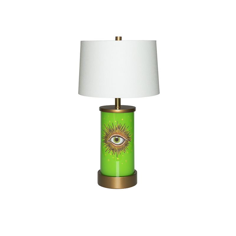 Eye See Lime Églomisé Lamp