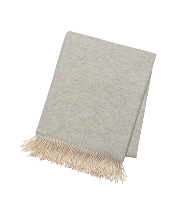 Pale Grey & Blue Cashmere Throw
