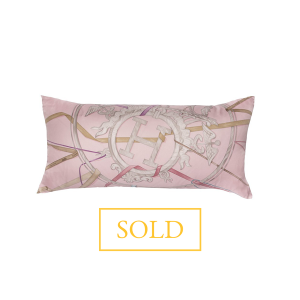 """Attrape Tes Reves"" Hermès Silk Scarf Pillow"