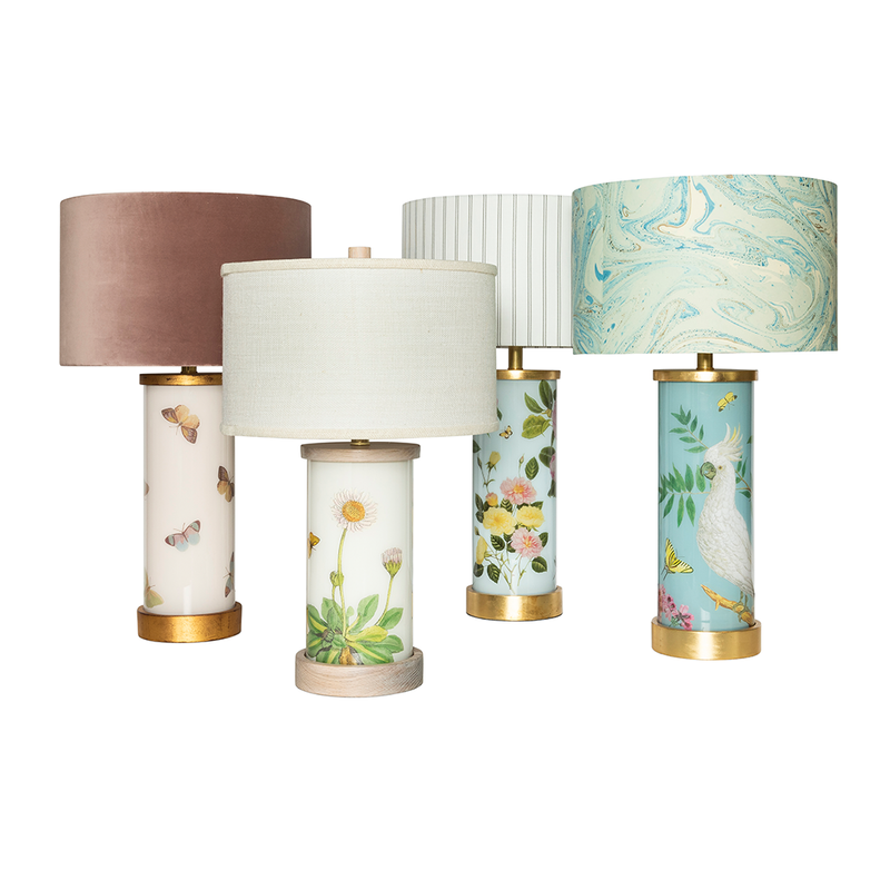 Oh So Pretty Flutter Églomisé Lamps